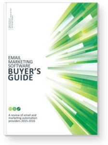 Boekcover Email Marketing Software Buyer's Guide
