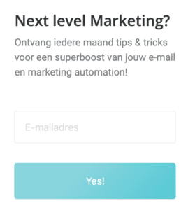 Voorbeeld Marketing Automation trigger