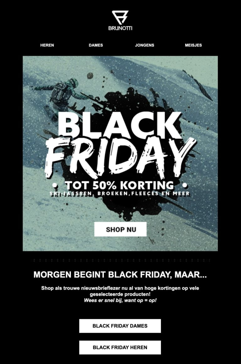 E-mailcampagne Black Friday